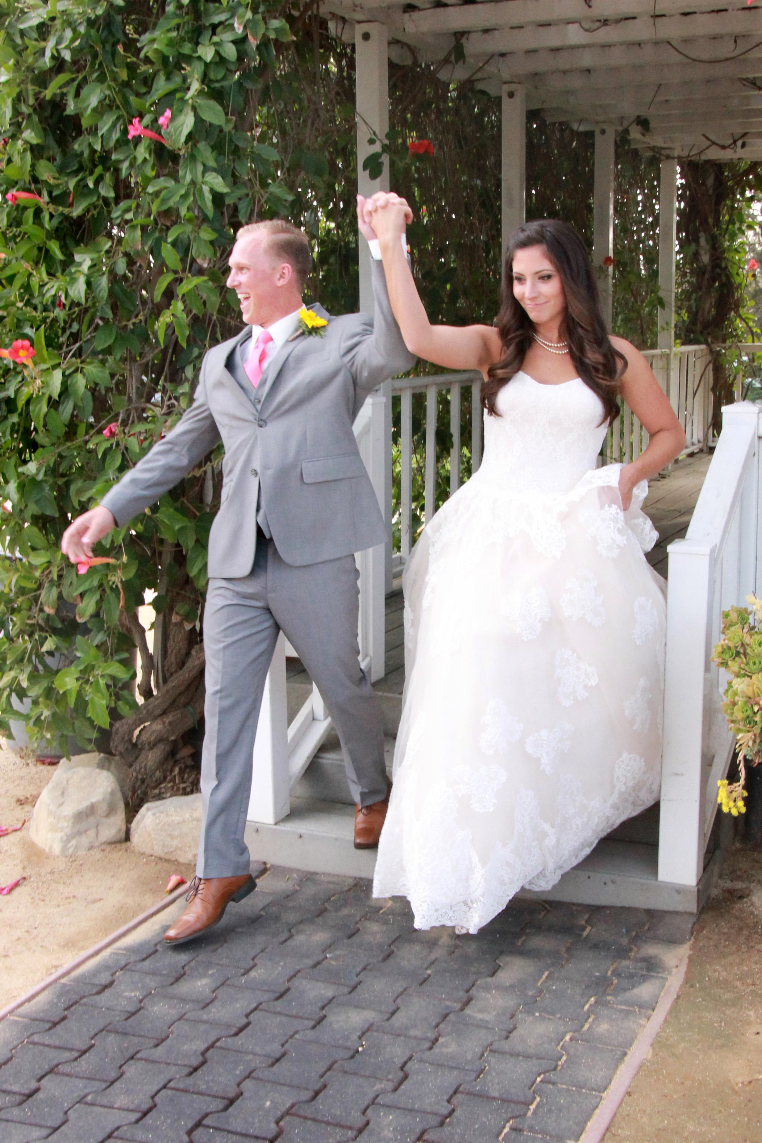 Kenneth & Nicole enter their reception!